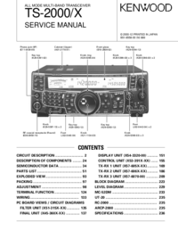 Kenwood TS-2000/X Transceiver Service Manual