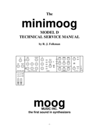 Moog Music minimoog D Synthesizer Service Manual
