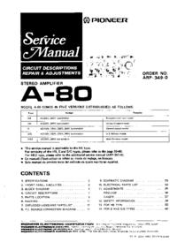 Adret Electronique 7100 D Generator Service Manual