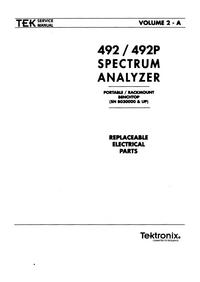 Tektronix 492 Spectrum analyzer Service Manual