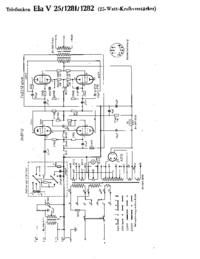 Telefunken Ela V25 1281 Amplifier Cirquit Diagram