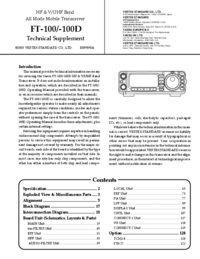 Yaesu FT-100 Transceiver Service Manual
