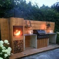 Build your own outdoor kitchen of scaffolding wood? You ...
