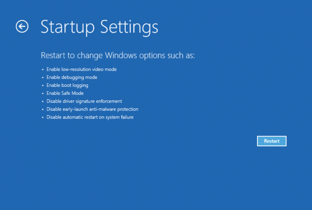 Repair Startup Windows Launch 8