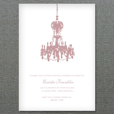 Party Invitation Template With French Chandelier 1