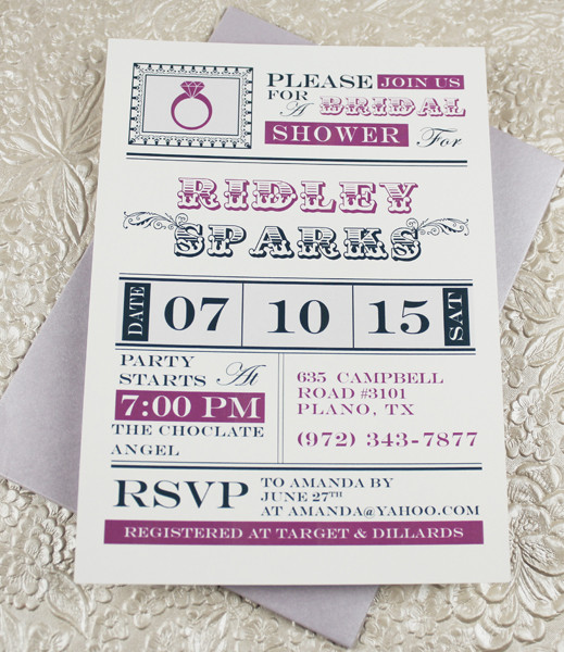 Free Bridal Shower Invitation Templates Within Ucwords