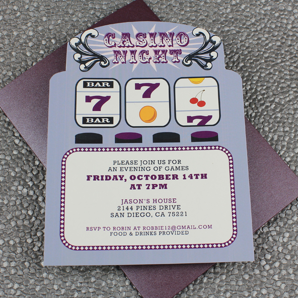Slot Machine Casino Night Invitation Template Download Amp Print