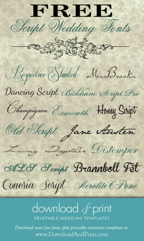 free wedding fonts # 38