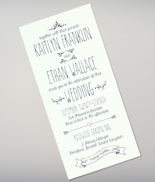 Doodle Love Tall Wedding Invitation Download Amp Print