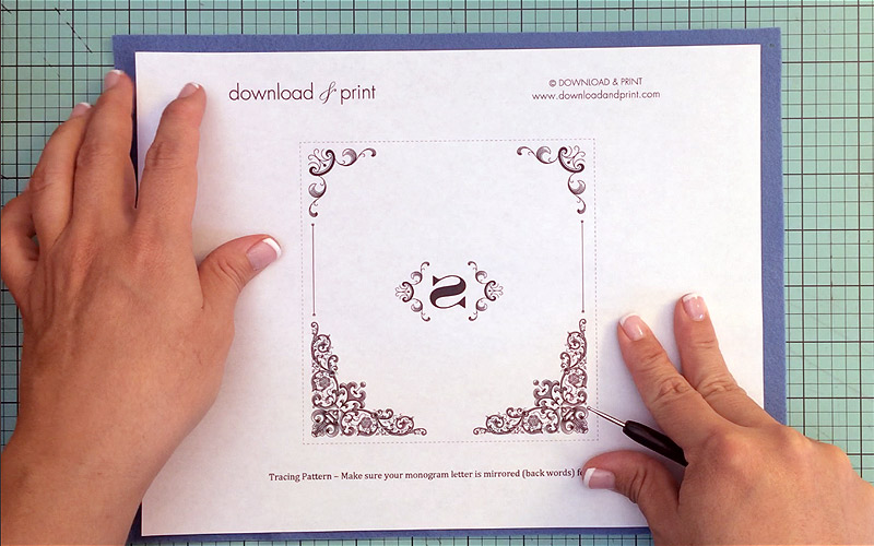 Use Embossing Template To Trace Design Print