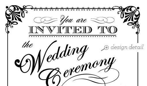 Ornate Vintage Printable Wedding Stationery Collection