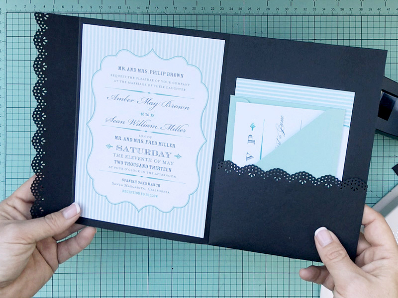 An Envelope Into A Wedding Invitation Pocketfold Print