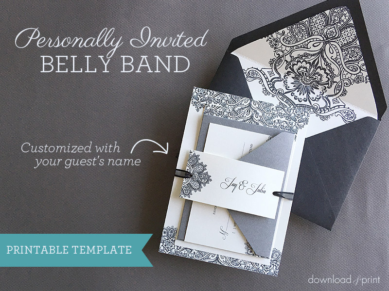 Personally Invited Diy Belly Band Print