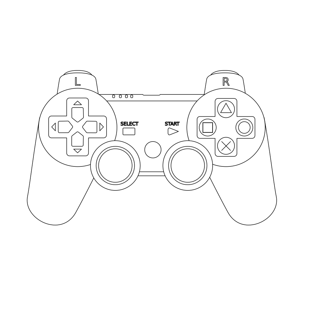 Game Console Controller Outline Svg Clip Art For Web