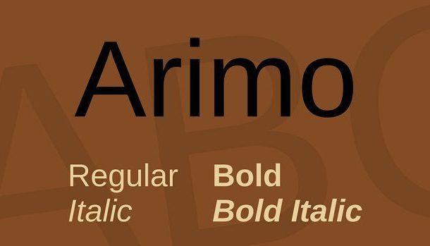 Arimo Font Family Free