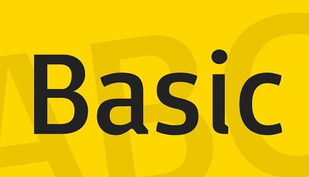 Basic Font Free Download