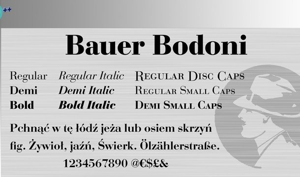 Bauer Bodoni Font Free
