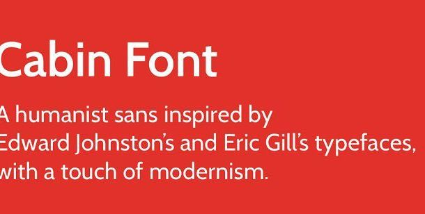 Cabin Font Family Free