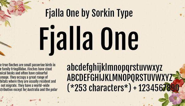 Fjalla One Font Family Free