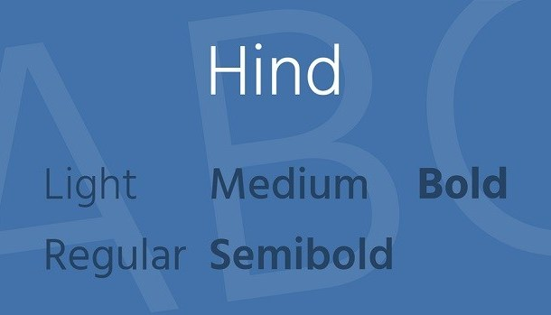 Hind Font Family Free