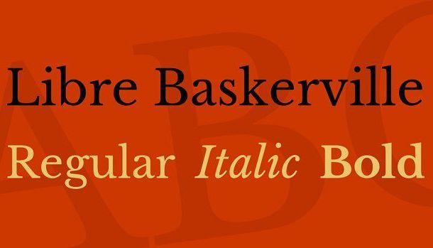 Libre Baskerville Font Family Free