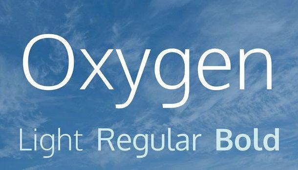 Oxygen Font  Free