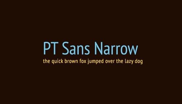 PT Sans Narrow Font Family Free