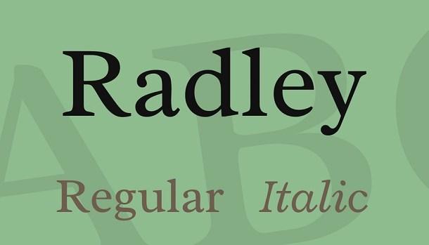 Radley Font Family Free