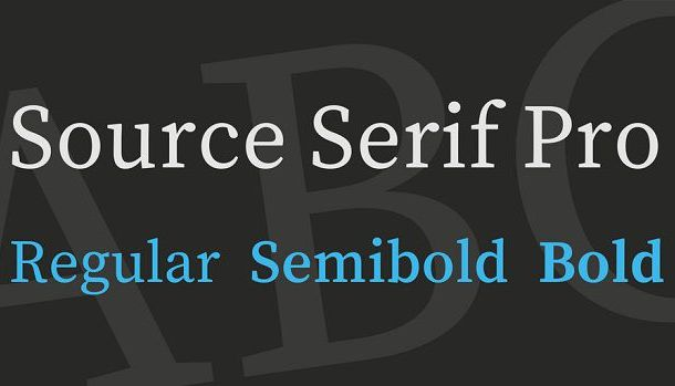 Source Serif Pro Font Family Free