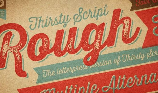 Thirsty Rough Font Free