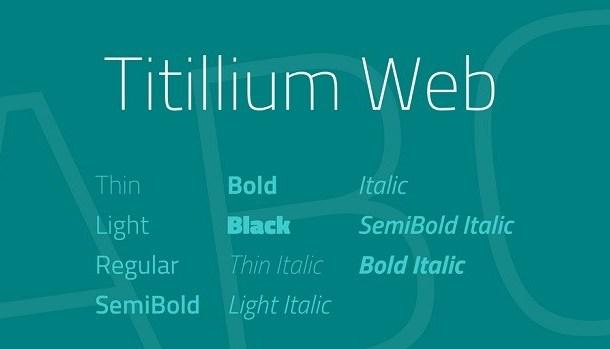Titillium Web Font Family Free