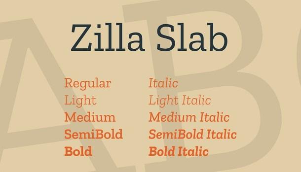 Zilla Slab Font Free Download