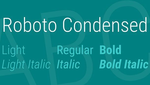 Roboto Condensed Font Family Free