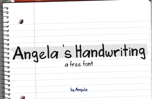 Angela's Handwriting Font