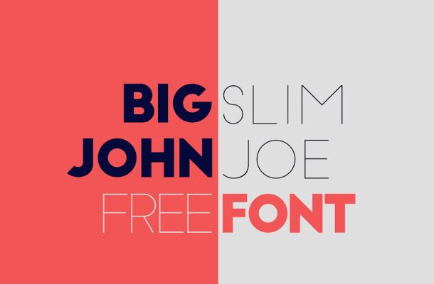 Big John / Slim Joe Font Family