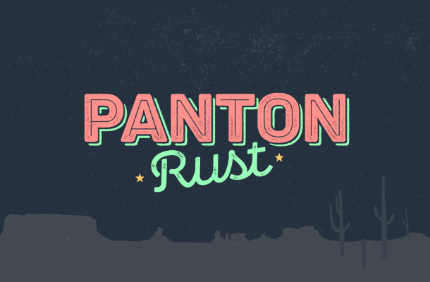 Panton Rust Font Free