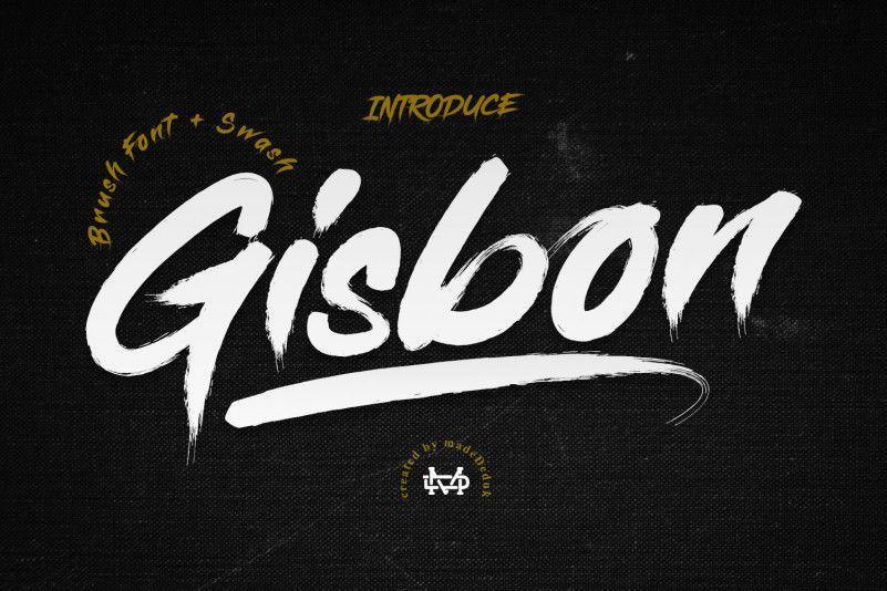 Gisbon-Brush-Font-1