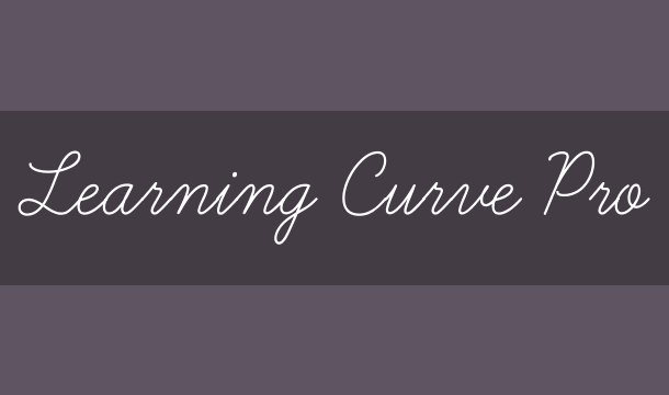 Learning Curve Pro Font