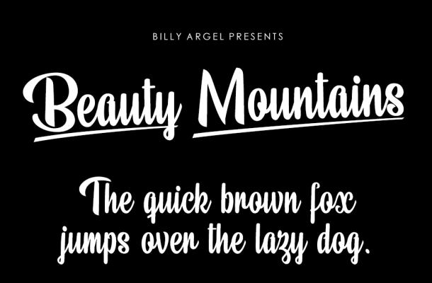 Beauty Mountains Font Free
