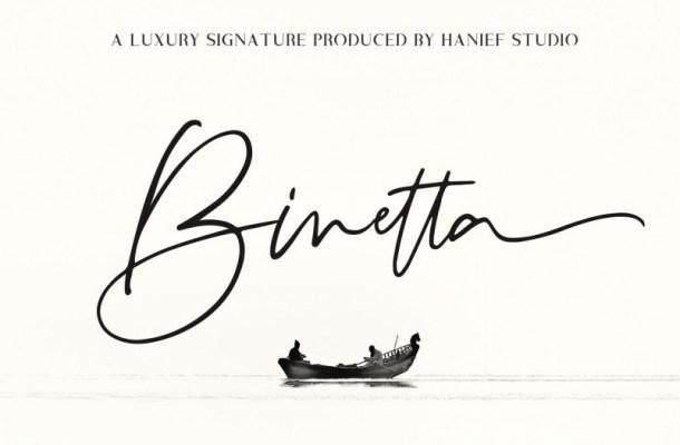 Binetta Signature Font