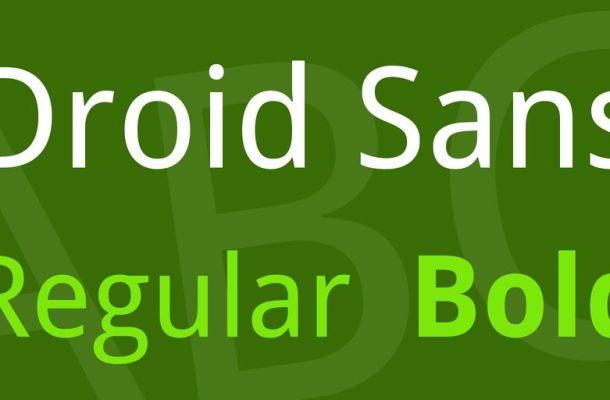 Droid Sans Font Family