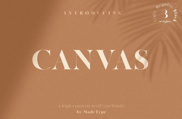 Made Canvas Font Family