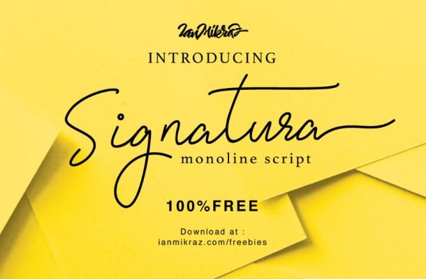 Signatura Monoline Script Font Free