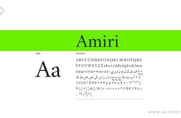 Amiri Font Family