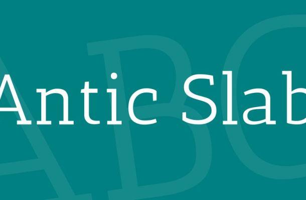Antic Slab Font