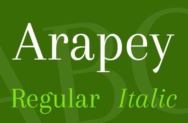 Arapey Font Family