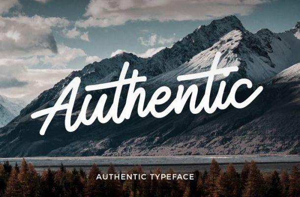 Authentic Monoline Script Font