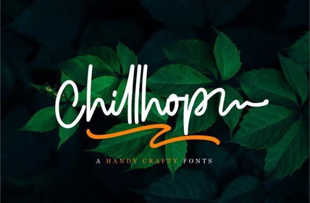 Chillhop Script Font