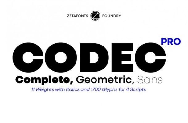 Codec Pro Sans Font Family