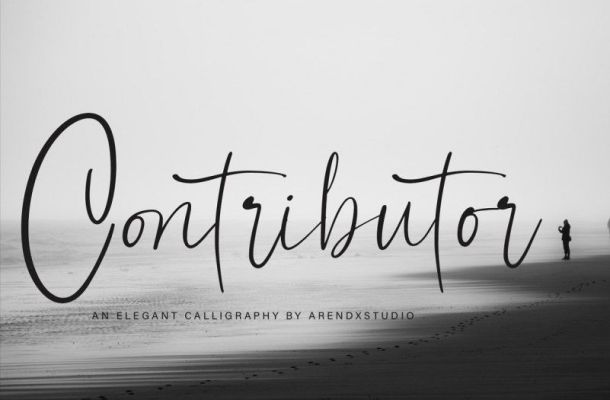 Contributor Calligraphy Font